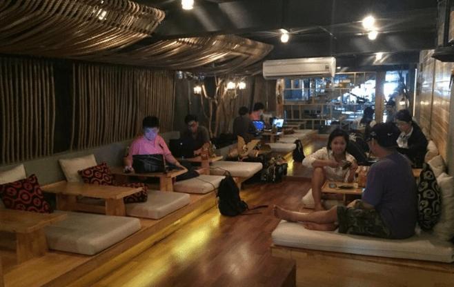 quán cà phê ngủ trưa Sài Gòn
