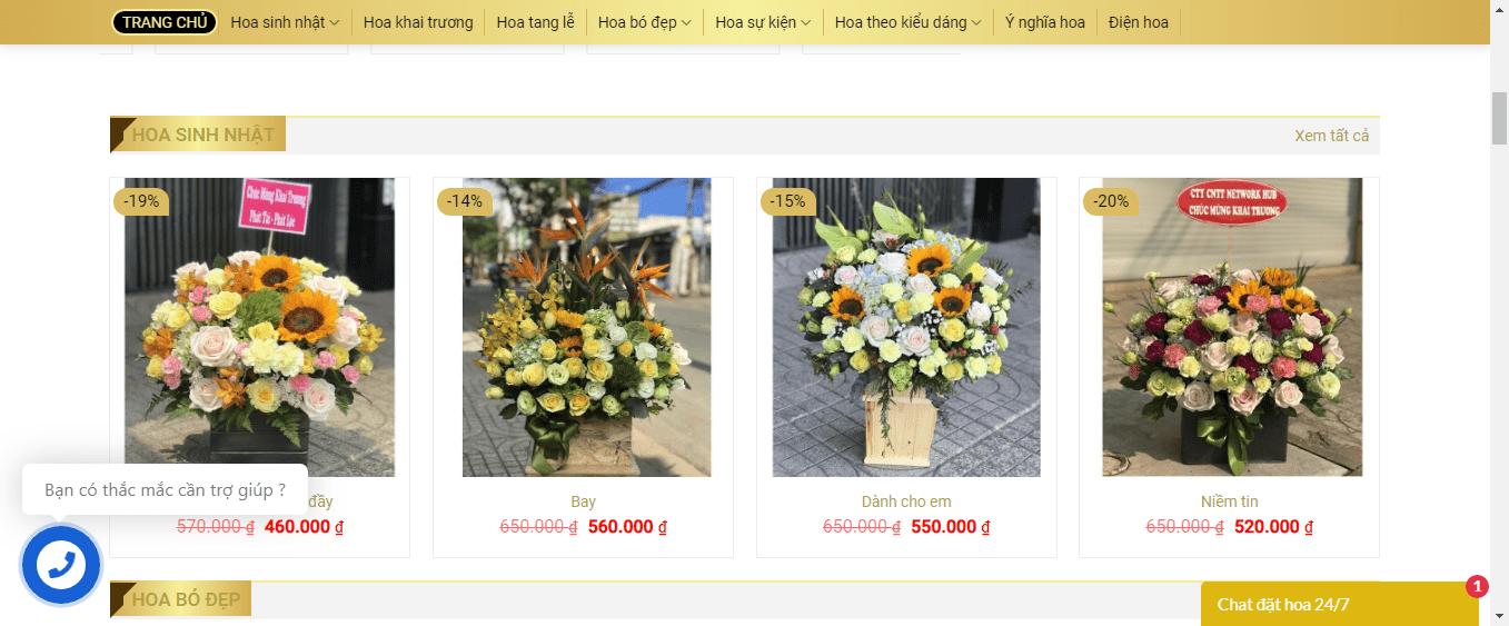 cửa hàng hoa sài gòn
