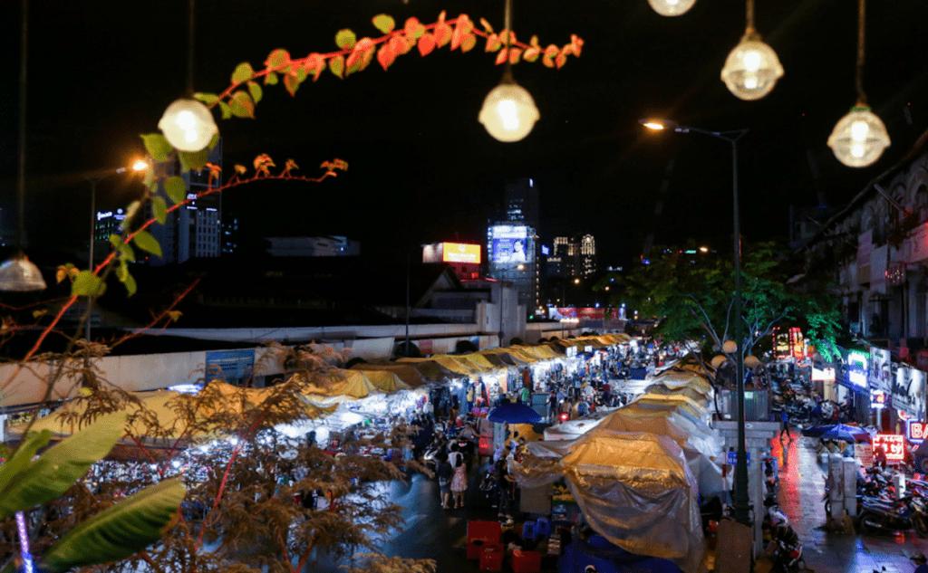 chợ đêm nổi tiếng Sài Gòn