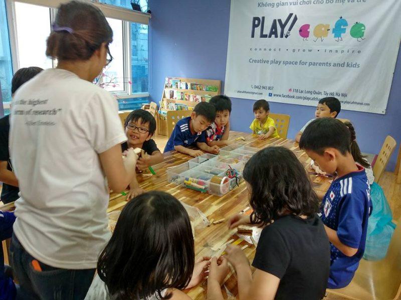 quán cafe cho trẻ em ở Hà Nội