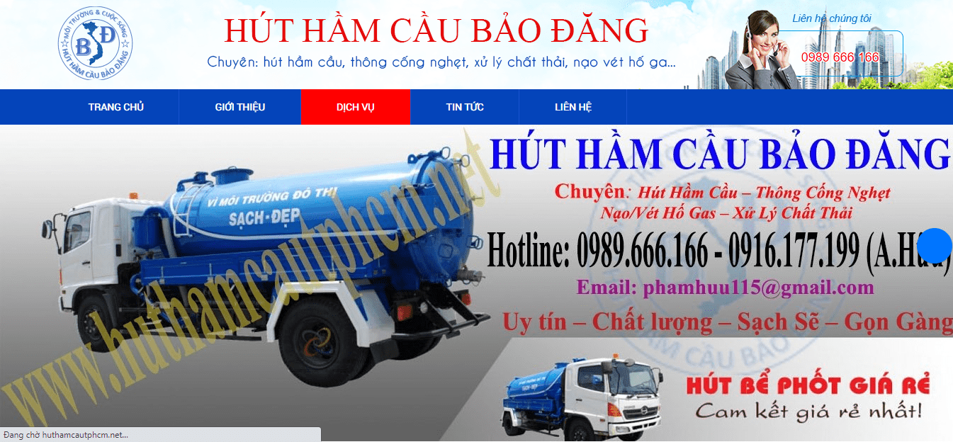 rút hầm cầu quận Tân Bình