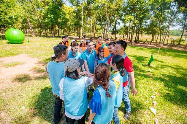 team building vườn xoài