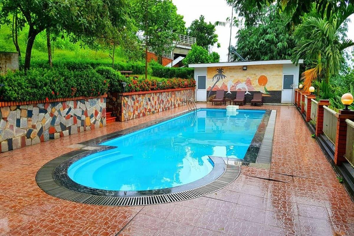 villa ba vì có bể bơi